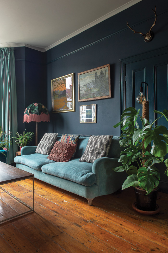 london victorian terrace house living room