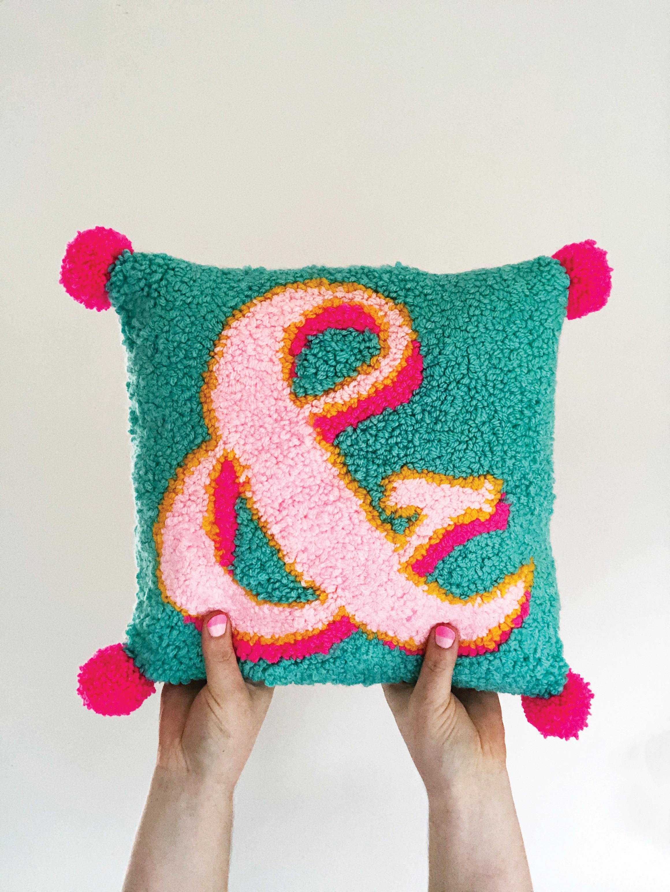 punch needle DIY cushion