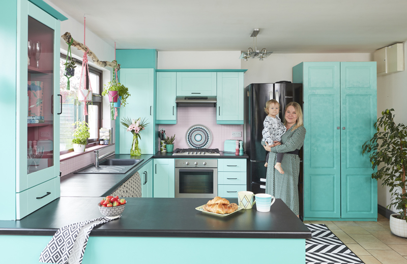Saara McLoughlin's DIY repainted kitchen with Crown Paints