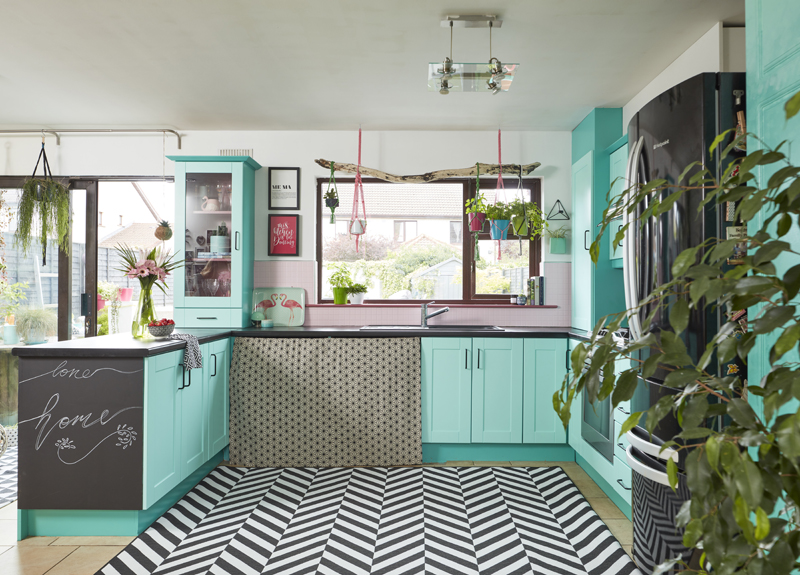 Saara McLoughlin's DIY kitchen makeover using Crown Paints