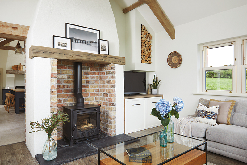 Caroline Hassett's Tipperary new build, A House by The Trees - living room