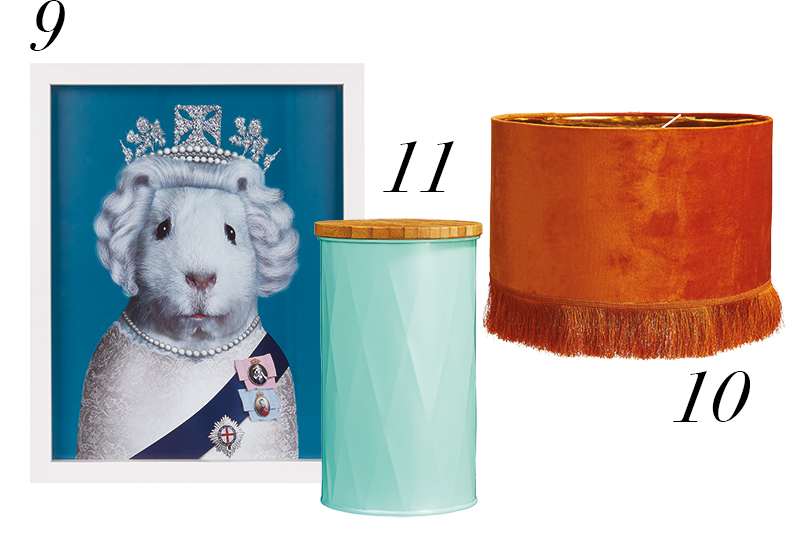 Homesense hero awards print, canister and lampshade
