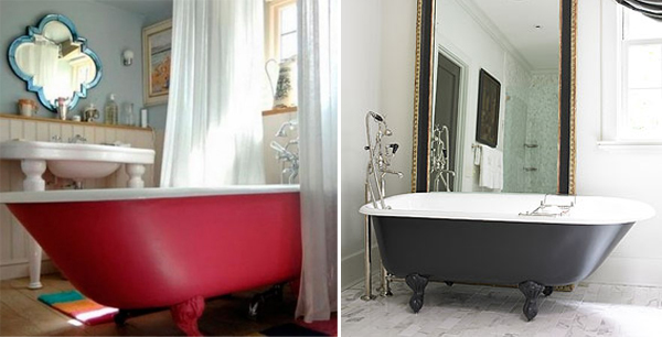 Painted Bath Tubs Are Mainly Effective On Bath Tubs On Feet Which You Can  Paint The Same Colour For A Unified Look. Ask An Expert At Woodies Or ...