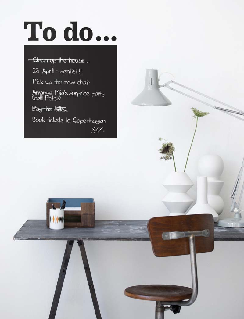 To Do wall sticker, €38, Ferm Living
