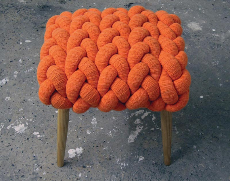 Claire Anne O'Brien knitted stool