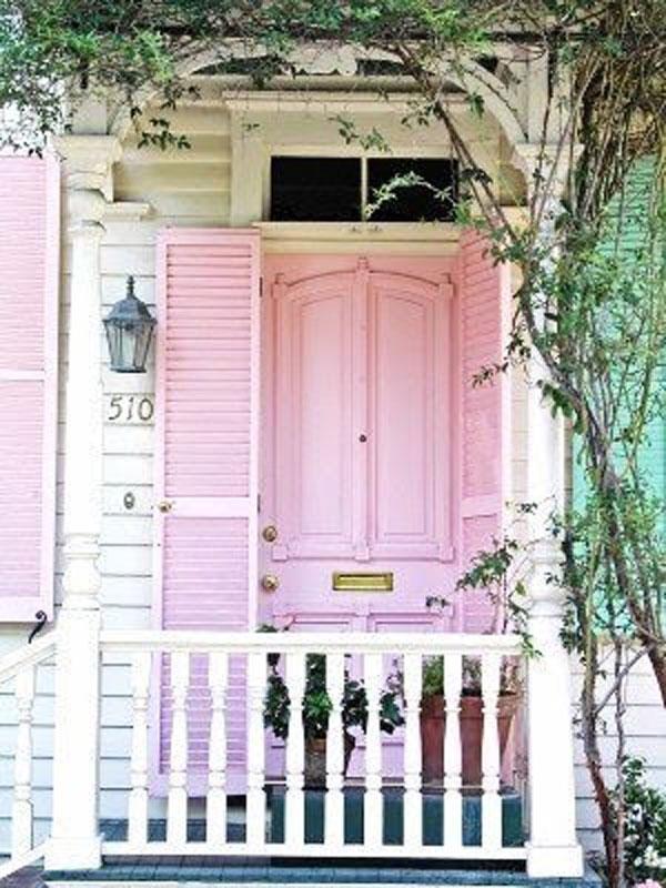 front door pink