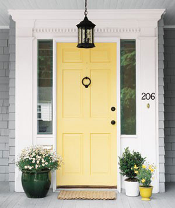 front door yellow