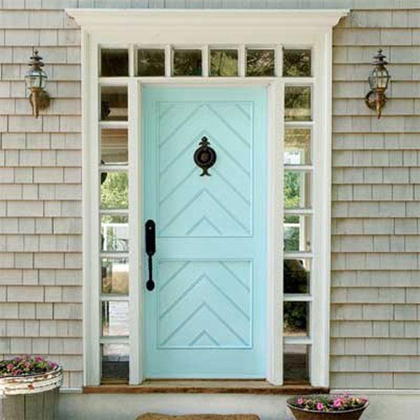 front door blue