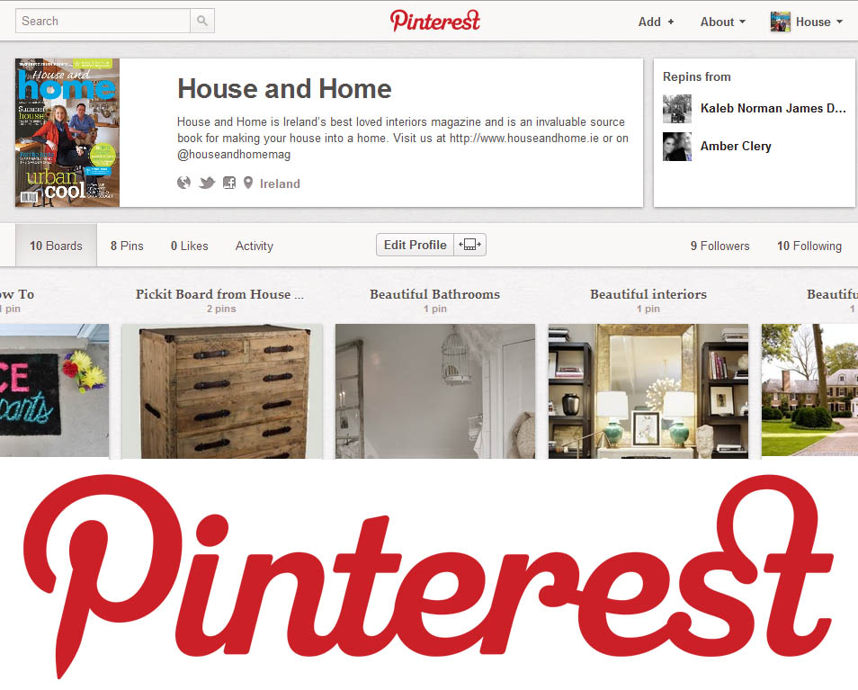 House and Home is on Pinterest