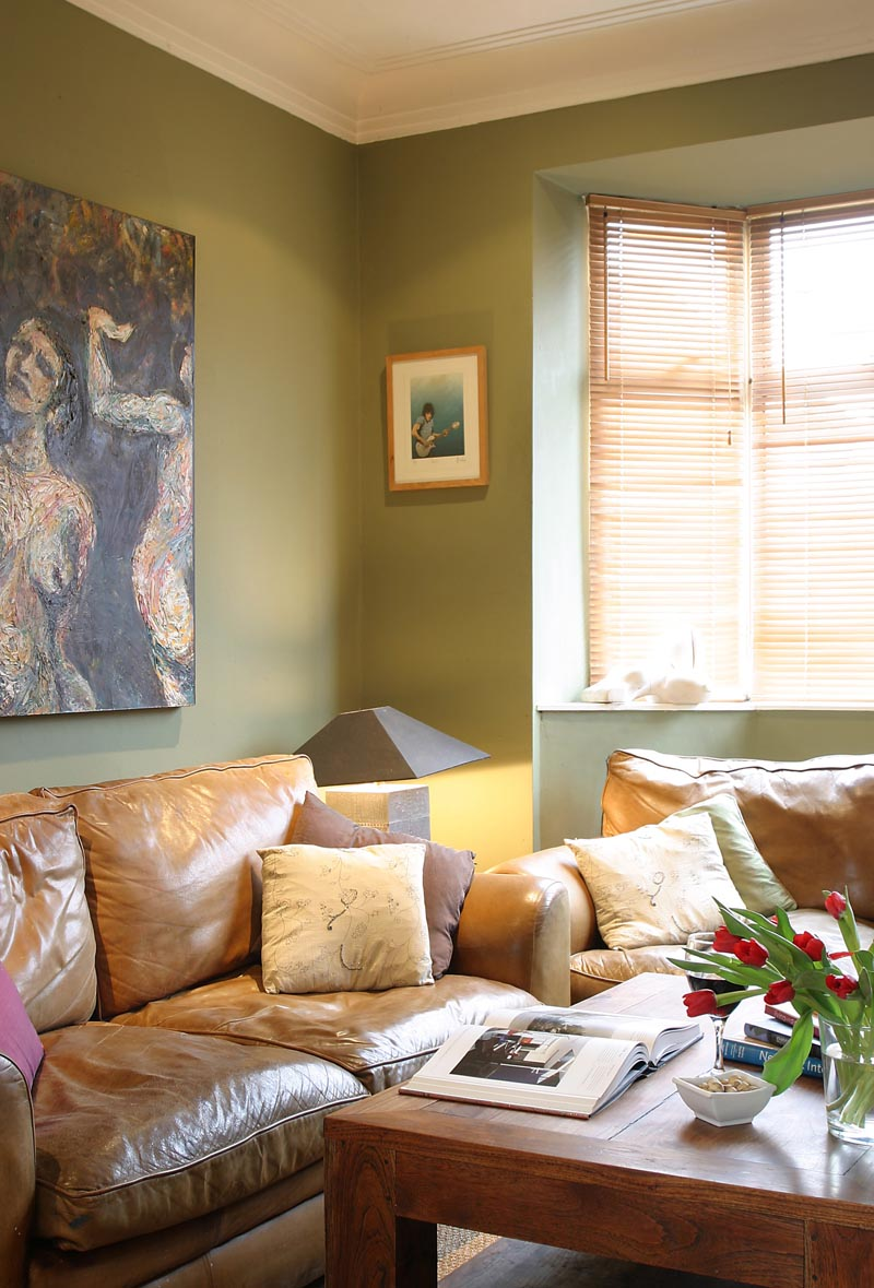 darran and louise's eastern inspired sitting room