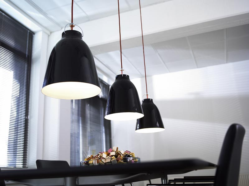 Caravaggio black pendant, prices ranging from €113 - €679, Wink lighting