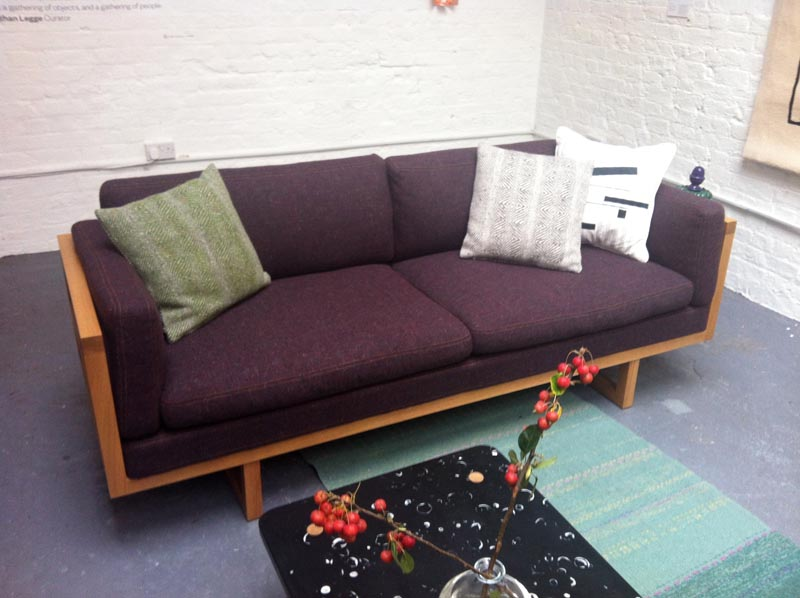 Sofa by Simon and Tadhg O'Driscoll with tweed upholstery by Molloy & Sons