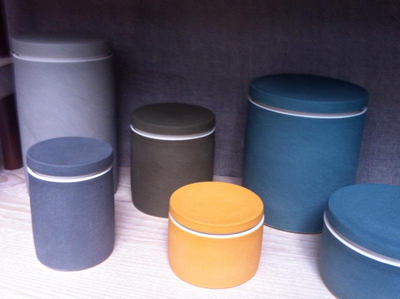 Ceramic containers by Derek Wilson