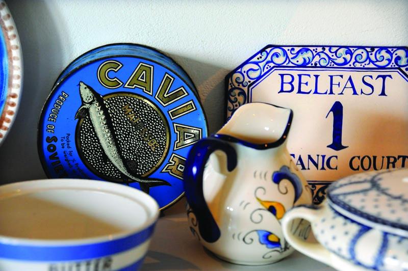Some beautiful blue tableware.